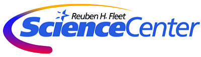 Graphic logo of the Ruben H. Fleet Science Center.