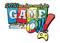 Promotional graphic for 2013 San Diego County Fair, June 8- July 4, 2013.