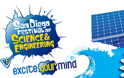 Graphic logo for San Diego Science Festival.