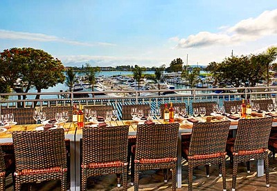 Photo of the view from the VIP Observation deck on the Coronado Terrace of the Marina Kitchen Restaurant. Courtesy of the Marina Kitchen.