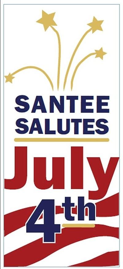 Promotional graphic for Santee Salutes July 4th 2013. Cou...
