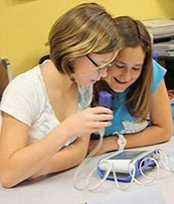Image of girls attending the Science Saturday Girls Club....