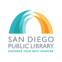 Graphic logo of San Diego Central Library.
