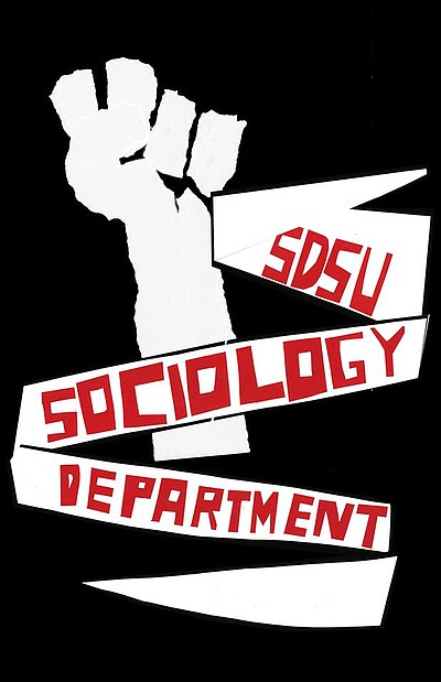 Promotional graphic for the SDSU Sociology Department.