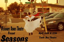 """Promotional image of Visionary Dance Theatre's """"Seasons"""", April 26 & 27, 2013."""