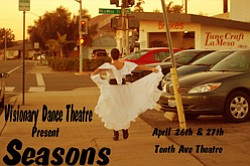 "Promotional image of Visionary Dance Theatre's ""Seasons"", April 26 & 27, 2013."