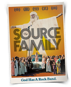 "Promotional graphic for ""The Source Family"" screening taking place at Balboa Park on August 8. Courtesy of ""The Source Family."""