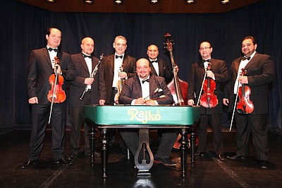 Promotional image of Rajkó Gypsy Band from Hungary. Courtesy of  Scripps Miramar Ranch Library Center