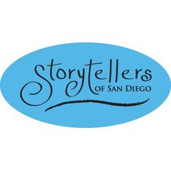 Graphic logo for Storytellers of San Diego.