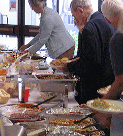 Promotional graphic for the Thanksgiving dinner at First United Methodist Church. Courtesy of the First United Methodist Church.