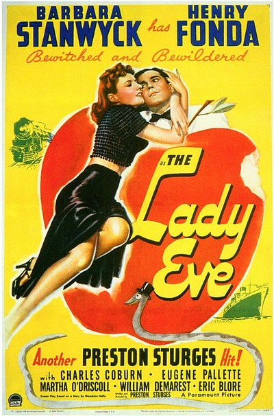 "Promotional graphic for the film, ""The Lady Eve."""