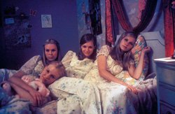 "Promotional image of the film ""The Virgin Suicides"" playing at the Central Public Library."