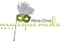 Promotional image of Wine & Dine Masquerade on April 20, 2013 at 7pm.