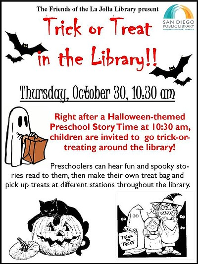 La Jolla Riford Branch Library: Halloween Story Time! - October 30 ...