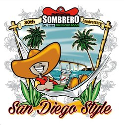 Graphic promoting Sombrero Mexican Food's 30th Anniversary.