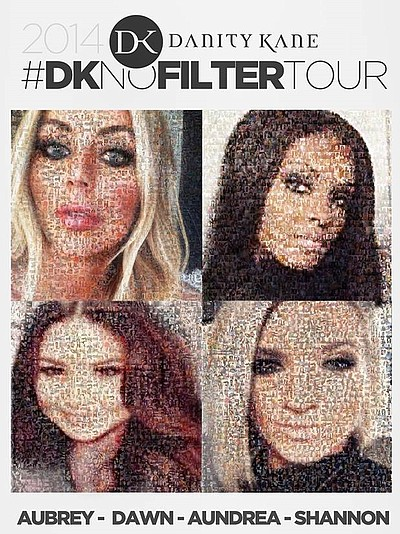 Promotional flyer for Danity Kane's No Filter Tour.
