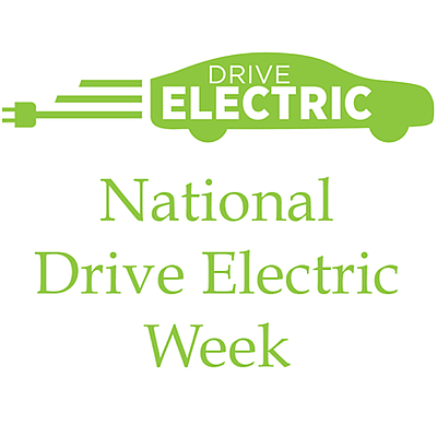 Graphic logo for National Drive Electric Week.