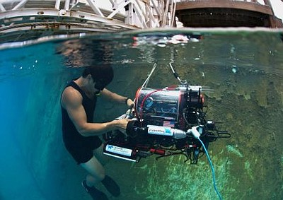 Photo from a past Student Robotic Submarine Competition i...