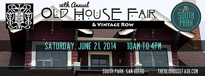 Promotional graphic for the Old House Fair in South Park.