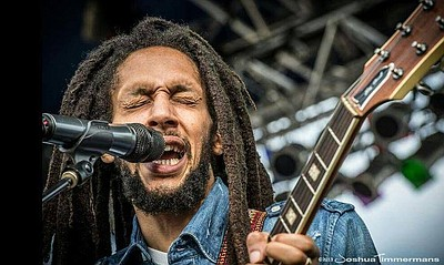 Promotional photo of reggae artist, Julian Marley.