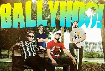 Promotional photo of band, Ballyhoo!