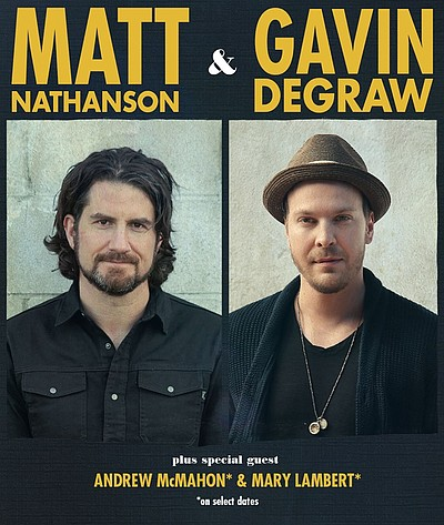 Promotional photo of Matt Nathanson and Gavin DeGraw.