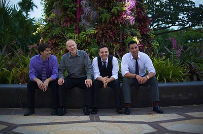 Promotional photo of The Piano Guys.