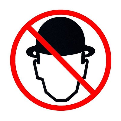 Graphic logo for the new wave band, Men Without Hats.