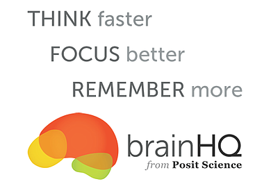 Promotional graphic for the BrainHQ classes at College Av...