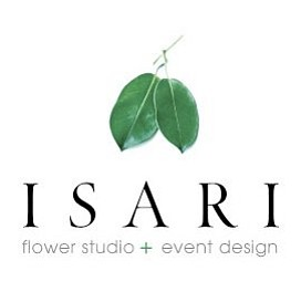 Graphic logo for floral designer, Tam Ashworth's Isari Flower Studio.