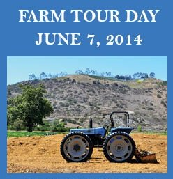 Promotional flyer for the San Diego Farm Tour Day 2014.
