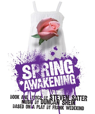 "Graphic flyer promoting Tony Award Winning Musical, ""Spring Awakening."" Courtesy of Cygnet Theater"
