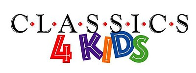 Graphic logo for Classics 4 Kids at Balboa Park.