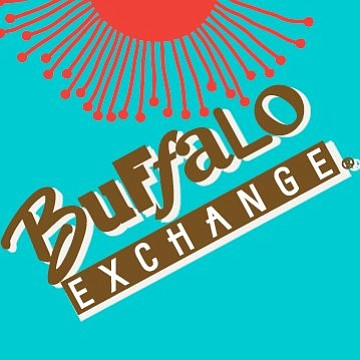 Promotional graphic for Buffalo Exchange.