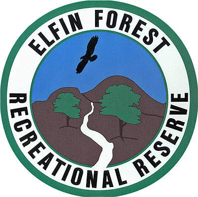 Graphic logo for Elfin Forest Recreational Reserve.