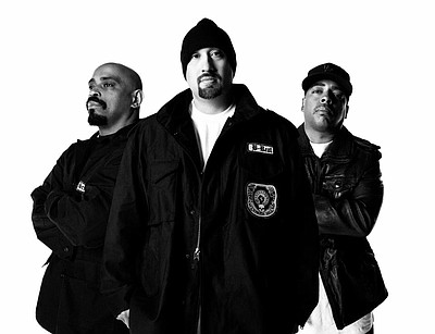 Photo of American hip-hop group, Cypress Hill.