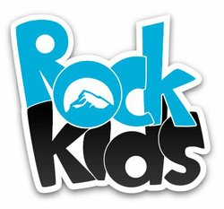 Graphic logo for Rock Kids.