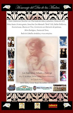 Promotional flyer for 5th Mother's Day Celebration & Cult...