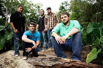 Promotional photo of country music group, The Josh Abbott Band.
