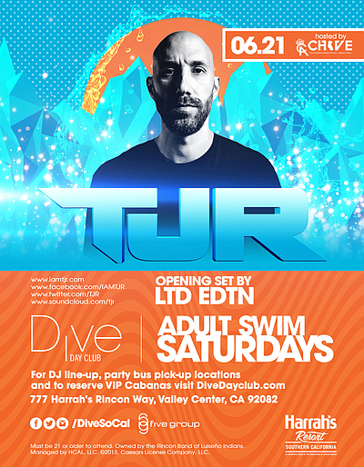 Dive Day Club Adult Swim Saturdays With TJR