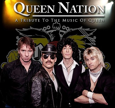 Promotional photo of Queen Nation, a Tribute to Queen.