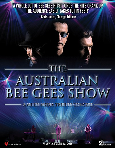 Promotional graphic for The Australian Bee Gees Show. Cou...