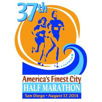 Promotional graphic for the 37th Annual America's Finest City Half Marathon and 5k.