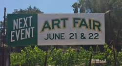 Promotional photo for ART FAIR At Myrtle Creek Botanical Gardens & Nursery on June 21 & 22, 2014.