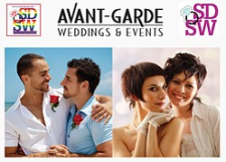 Promotional photo for the Avant-Garde Weddings & Events Presents Same-Sex Wedding Contest taking place June- December 2014.