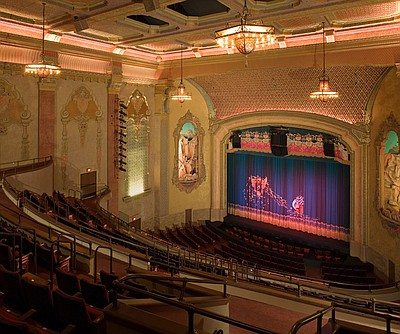 Interior photo of the San Diego Balboa Theatre.