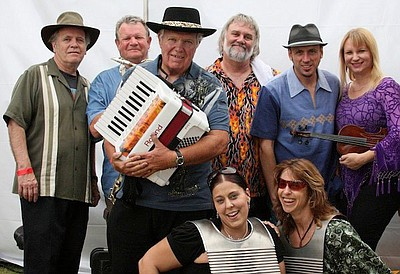 Promotional photo of Zydeco band, Bayou Brothers.