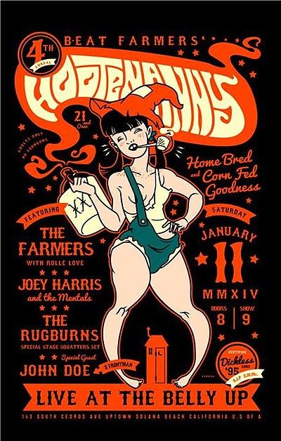 Promotional photo for the 4th Annual Beat Farmers Hootena...