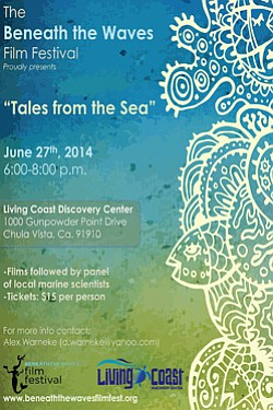 Promotional flyer for Beneath the Waves Film Festival on June 27, 2014.