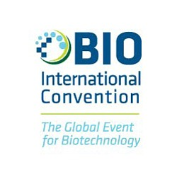 Graphic logo for the BIO International Convention on June...